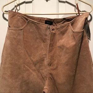 Mossimo Suede Pants 14 NWT